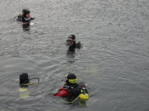 Total Control in Open Water.  AM Divers at Stoney Cove.